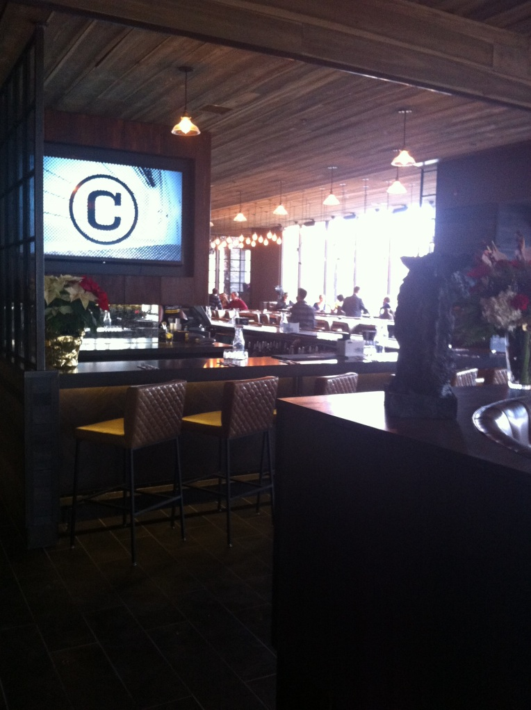 Looking on to the bar on Grand Opening day.