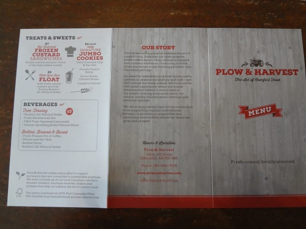 Outside view of the menu.
