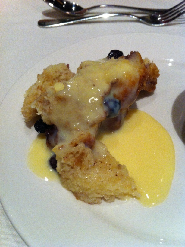 Mayfield Dinner Theatre Saskatoon Berry Bread Pudding