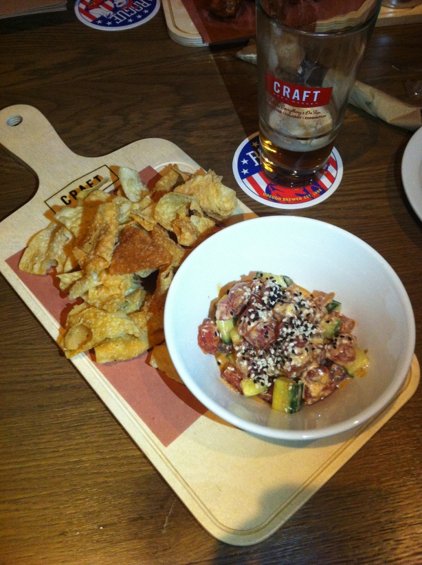 Craft Beer Market Hawaiian Ahi Poke