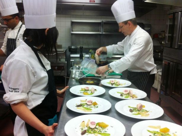 Fairmont Hotel Macdonald - Team Entree Plating