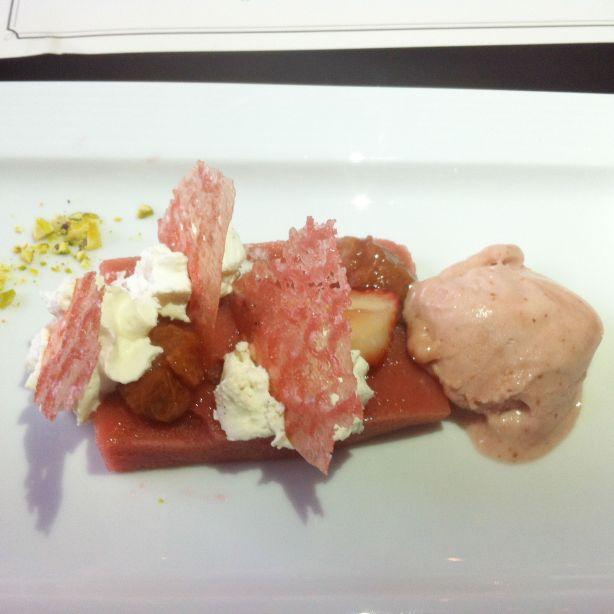 Fairmont Hotel Macdonald - Strawberry and Rhubarb Dessert