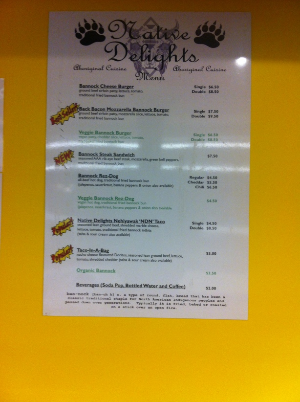 Native Delights Menu