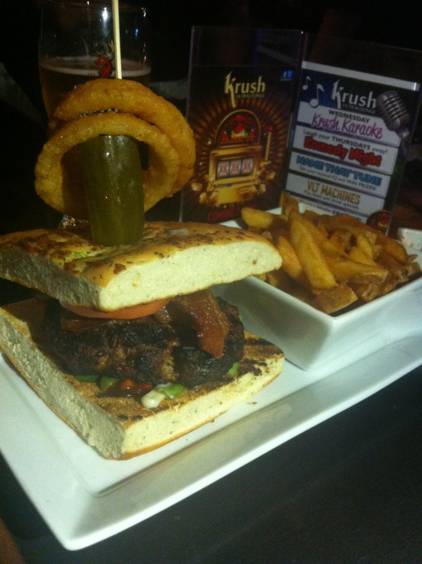 Krush Ultralounge - BBQ Burger