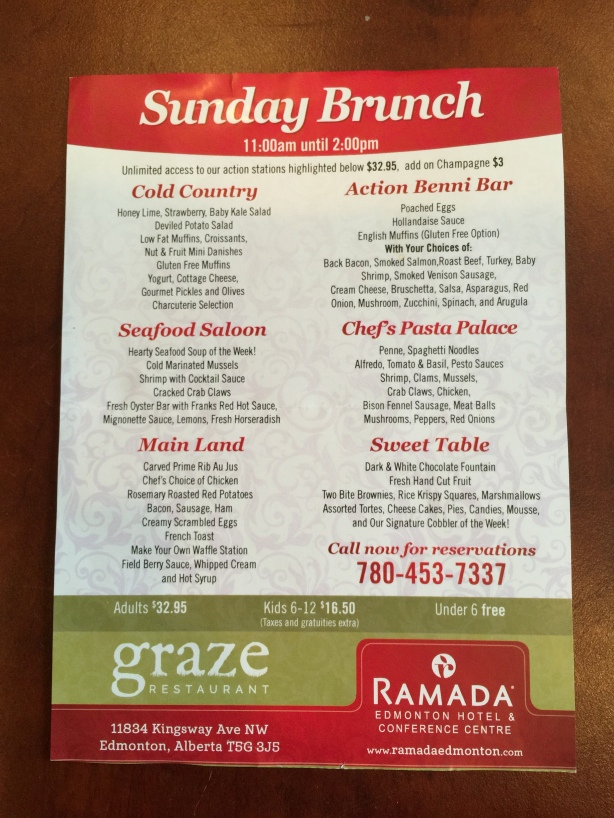 Graze Brunch Menu